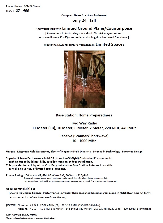 COMPACtenna Data Sheet 27 - 450 11.1.2017