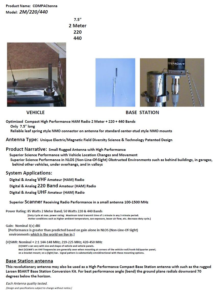 COMPACtenna Data Sheet 2M-220-440 11-1-2017