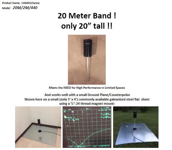 COMPACtenna Data Sheet 20M-2M-440 TOP
