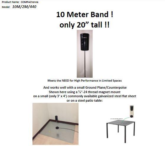 COMPACtenna Data Sheet 10M-2M-440 TOP
