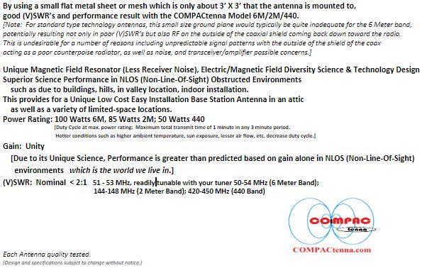 COMPACtenna Data Sheet 6M-2M-440 BOTTOM