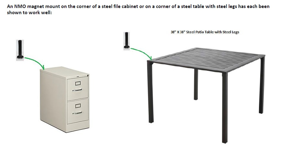 COMPACtenna Installation 7in File Cabinet, Steel Table