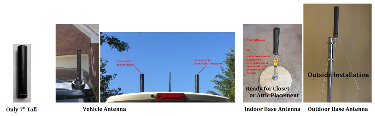 COMPACtenna Website 7in HAM Antennas Vehicle and Base Photos