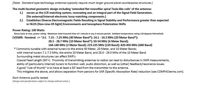 COMPACtenna Data Sheet HamR-7 4.2.20 BOTTOM Half