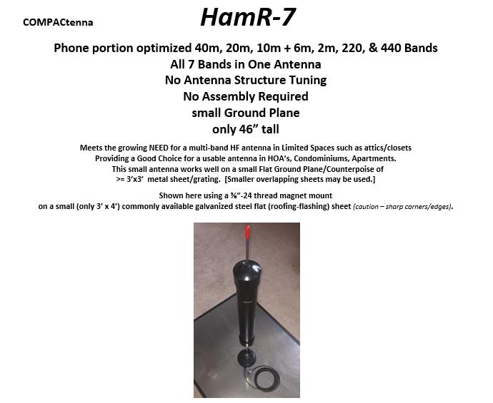 COMPACtenna Data Sheet HamR-7 4.2.20 TOP Half