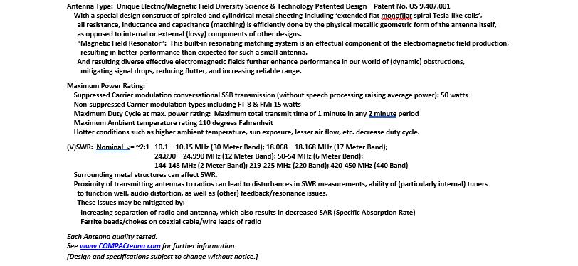 COMPACtenna Data Sheet HamR-7WARC 7.4.20 BOTTOM Half