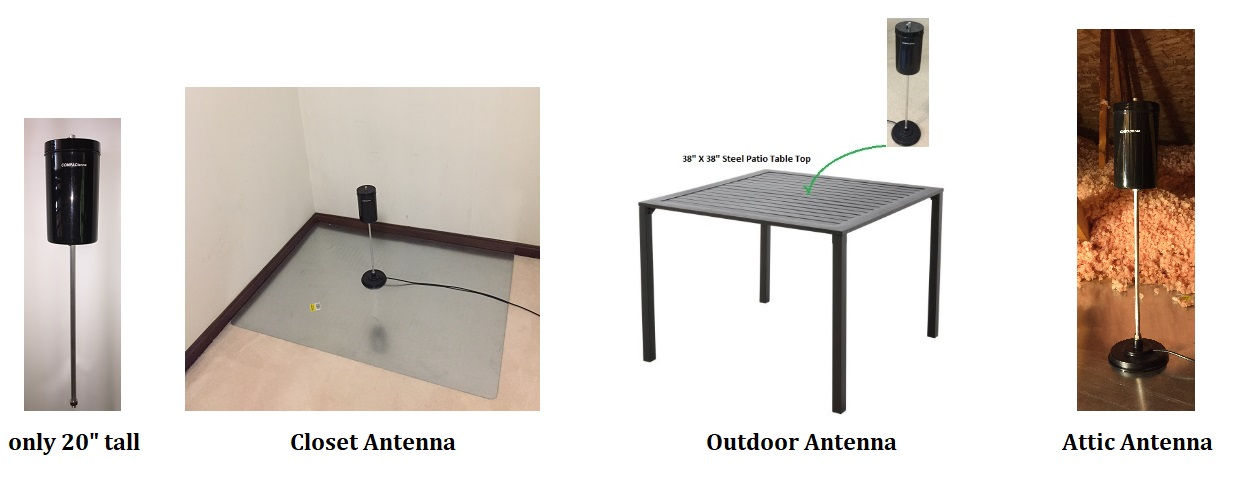 COMPACtenna Website 20in Antenna Attic, Closet and Outdoor Photos
