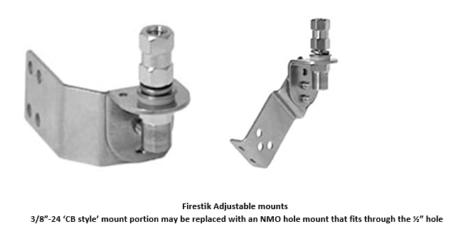 COMPACtenna Installation - Adjustable Mount - Firestick 'CB' models with NMO hole mount option discussed