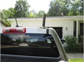 COMPACtenna Photo 7in Antenna Magnet Mount on Truck Cab