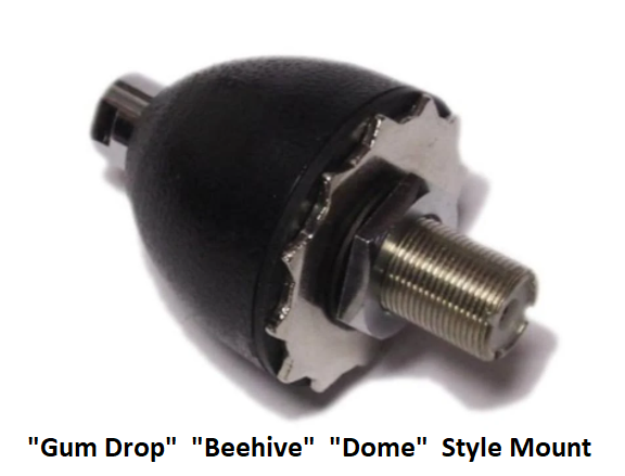 COMPACtenna Installation Gum Drop-Beehive-Dome Style Antenna Mount
