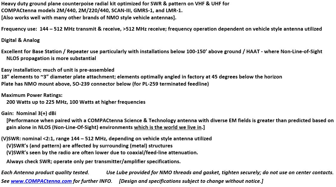 COMPACtenna Data Sheet CompacCounterpoise BOTTOM 8.24.21