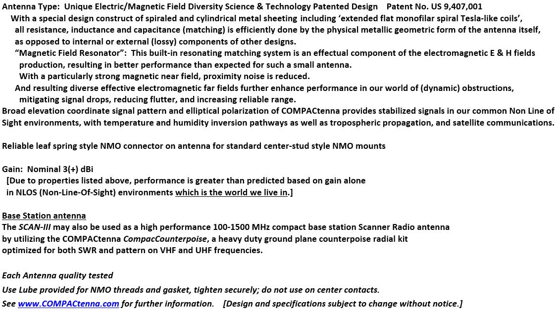 COMPACtenna Data Sheet SCAN-III BOTTOM 8.23.21