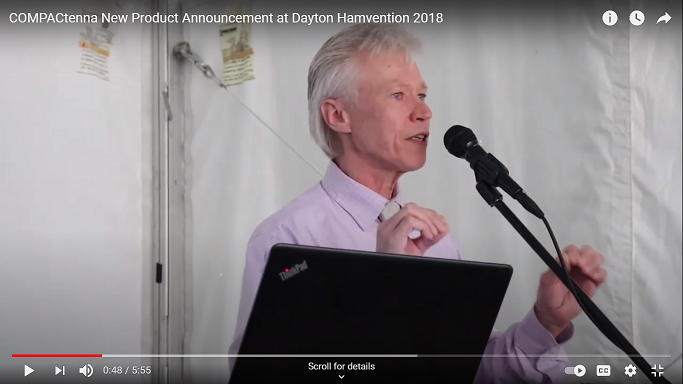 COMPACtenna Dayton Hamvention 2018 Product Announcement Video Screen Shot