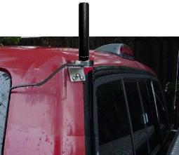 COMPACtenna Installation NMO L-Bracket on Corner Pickup Truck Cab