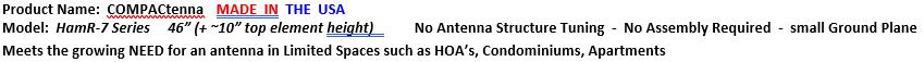 COMPACtenna Data Sheet HamR-7 SERIES 8.22.21 TOP