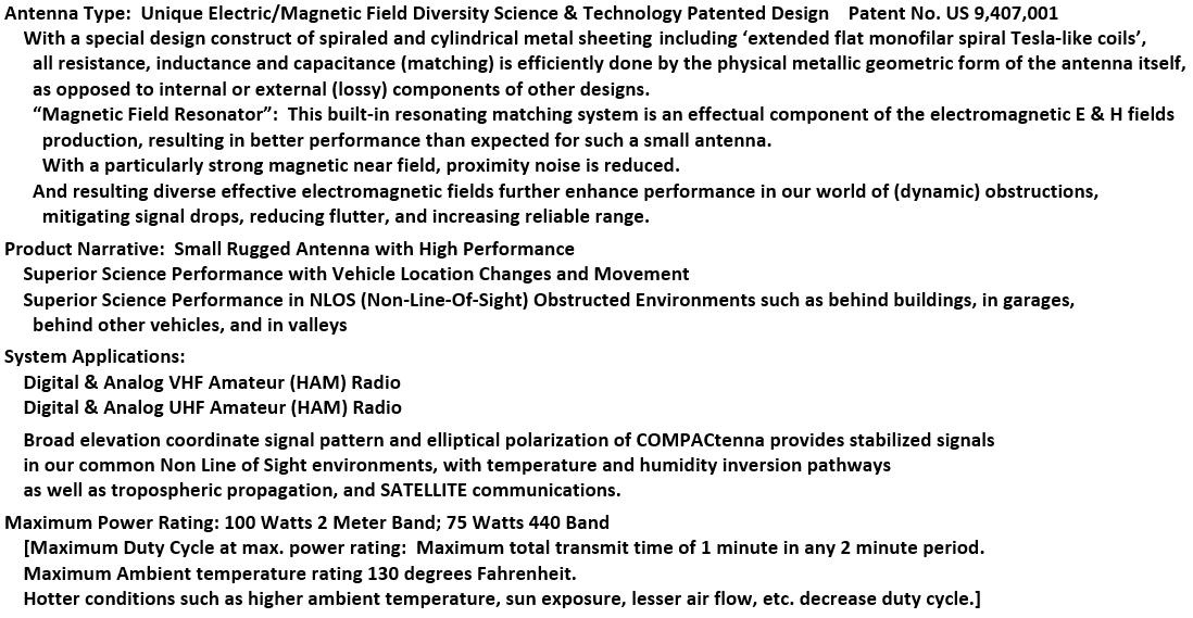 COMPACtenna Data Sheet 2M-440+ 10.1.21 MID
